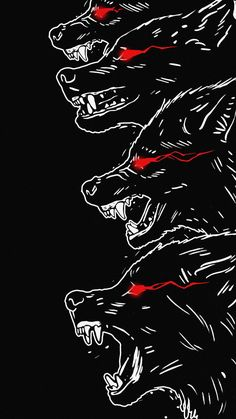 Black Wolfs iPhone Wallpaper - iPhone Wallpapers