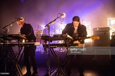 Joshua Lloyd-Watson and Tom McFarland of Jungle perform on stage at Shepherds Bush Empire on October 30, 2014 in London, United Kingdom.
