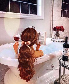My best autumn relax after hard day ? Girly Drawings, Disney Drawings, Cartoon Kunst, Cartoon Art, Disney Princess Art, Disney Art, Mode Poster, Girly M, Cute Girl Drawing