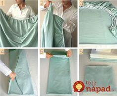 Geniálna pomôcka, ktorá navždy zmení spôsob, akým skladáte posteľnú plachtu. Takto to robia profíci!