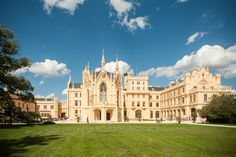 Stunning Chateau Lednice located south of Moravia. Ideal to combine with wine tasting. One day trip from Prague.