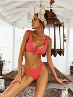 Now Or Never Solid Two-Piece Swimsuit