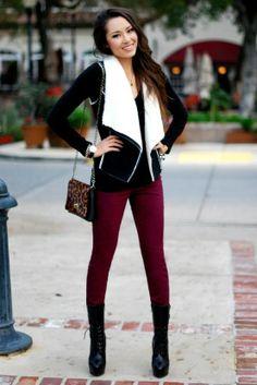 love Burgundy pants!