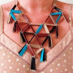 paper clip & duct tape necklace (going for $168 @anthropologie, but you should just diy)....