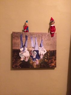 Elf idea. Family pic turned upside down.