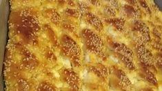 Αφράτη τυρόπιτα ταψιού στριφτή με φέτα και σουσάμι Feta, Macaroni And Cheese, Pizza, Ethnic Recipes, Mac And Cheese