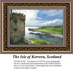 The Isle of Kerrera, Scotland, alluring landscapes counted cross stitch patterns, designs, charts, kits