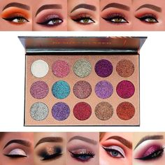 Beauty Glazed Brand Glitter Eyes Makeup Palette Waterproof Red Gold Blue Pigment 12 Color Glitter Eyeshadow Cosmetics Be Friendly In Use Eye Shadow