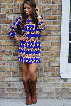 Catch Of The Day Dress: Blue/Multi #shophopes