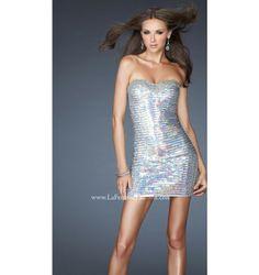 $338.00 LaFemme Short Dress at http://viktoriasdresses.com/ Through John's Tailors
