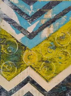 """Little Wonder Abstract Acrylic  9""""x12"""" on birch wood By Cristina Sayers 2016 $195"""