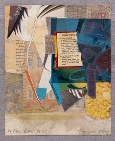 amare-habeo: Kurt Schwitters (German-British, 1887 - Green over yellow, 1947 Collage Dada Collage, Collage Kunst, Collage Art Mixed Media, Collage Artists, Kurt Schwitters, Collages, Museum Hannover, Photocollage, Mail Art