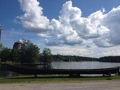 Olavinlinna castle shooted from Riihisaari Provincial Museum yard. Savonlinna Finland.