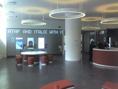 The modern waiting room in the Santa Maria Novella station in #Florence