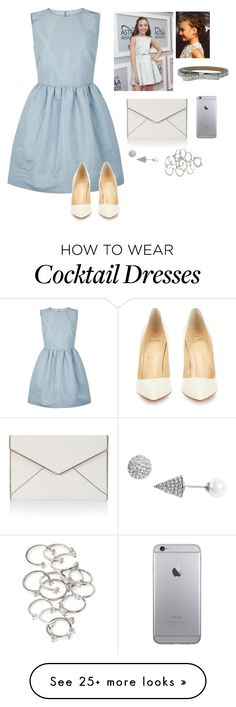 """""""Maddie Ziegler red carpet"""" by izelaixchel on Polyvore featuring RED Valentino, Christian Louboutin, Kate Spade, Rebecca Minkoff, Nadri and Forever 21"""