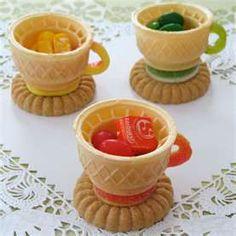 Ice cream cone tea cups