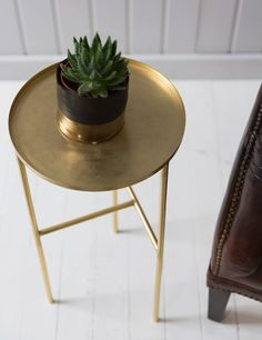 Brass plated Side Table £115