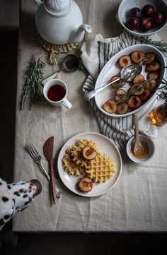 rosemary roasted plums and waffles-1-4