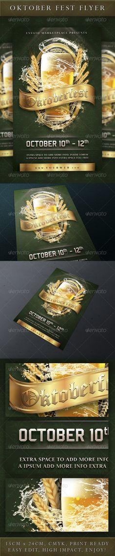 Oktoberfest Event Flyer http://www.davidemancinelli.it - Holidays Events