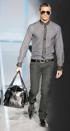 Men's shades of gray fashion