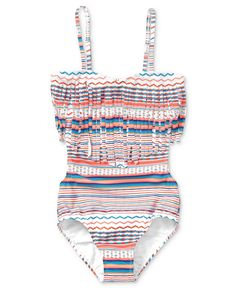 Roxy Kids Swimsuit, Girls Fringe Monokini - Kids Swimwear - Macy's