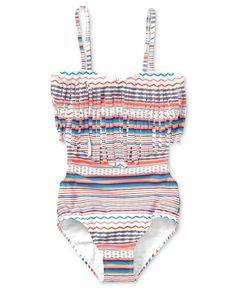 Roxy Kids Swimsuit, Girls Fringe Monokini - Kids Swimwear - Macy's