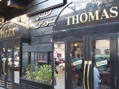 """Maison Thomas"" in Zamalek, Cairo, Egypt.  One of the few Cairene restaurants to serve pork.  Superb croque monsieur!"