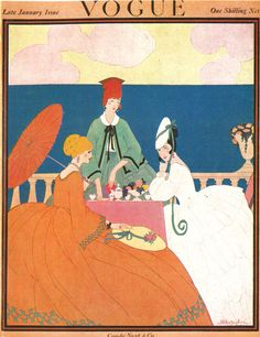 Vogue UK cover --- January 1917, by Helen Dryden.