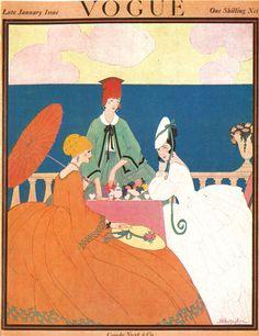 Capa da revista Vogue no início do século XX.
