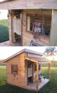 How to Make Western Kids House - DIY & Crafts - Handimania Boys Playhouse, Outside Playhouse, Build A Playhouse, Playhouse Outdoor, Pallet Playhouse, Playhouse Ideas, Backyard Playground, Backyard For Kids, Backyard Toys
