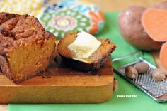 I took this great wonderful dairy and grain free Paleo Sweet Potato Bread bread recipe to a party and it was gone so quickly. It is kind of like a cross between a sweet potato casserole and a zucchini bread.