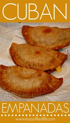 I had never tried empanadas until I was married to my husband. Actually I had never even heard of empanadas until I married my husband. Empanadas are stuffed pastries that are baked or fried. Comida Latina, Mexican Food Recipes, Beef Recipes, Cooking Recipes, Cuban Dishes, Spanish Dishes, Cuban Cuisine, Caribbean Recipes, Latin Food