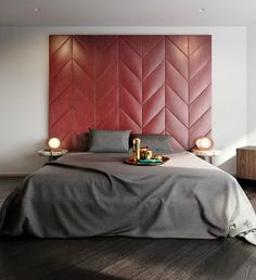 leather bedhead by tom dixon via themodernhouse.net