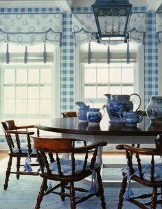 blue & white checks ~ Anthony Baratta design
