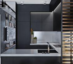 Kitchen Decor, Kitchen Dinning Room, Condo Kitchen, Interior Design  Kitchen, Kitchen Small