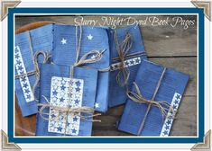 Starry Night Book Pages, a fantastic way to recycle or upcycle old book pages, you won't believe how easy and fun it is to dye paper with Rit dye! Great decor for Memorial Day or 4th of July.
