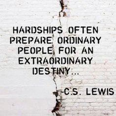 Remember: adversity has a purpose