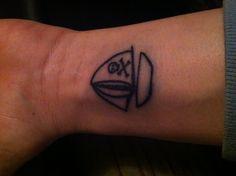 My new tiny sailboat w/ skull & crossbone tattoo