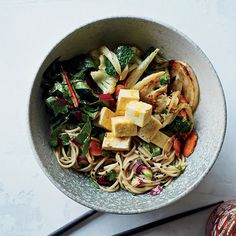 """Susan Feniger calls this cold noodle salad """"clean out the refrigerator soba"""": Tossed in a spicy citrus-soy dressing, the recipe is adaptable to whatever vegetables you happen to have in your crisper. Recipe: Kitchen-Sink Soba Noodles   - Delish.com"""
