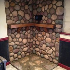 Stone Surround for Wood Burning Stove traditional-basement Wood Stove Wall, Wood Burning Stove Corner, Wood Stove Surround, Wood Stove Hearth, Hearth Stone, Fireplace Hearth, Stove Fireplace, Wood Burner, Wood Wall