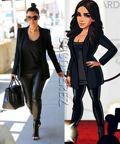 Kim Kardashian's outfits in her video game were inspired by her real-life attire! See the virtual looks!