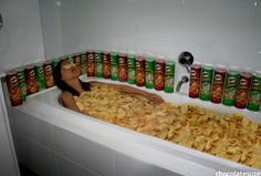 This crazy person.  Pringles are for eating!