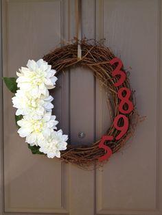 Address Wreath for Front Door