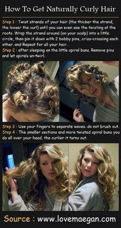 Gorgeous No Heat Curls!