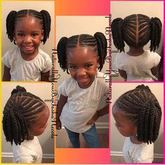 12 Easy Winter Protective Natural Hairstyles For Kids childrens hairstyles for school Toddler Braided Hairstyles, Toddler Braids, Childrens Hairstyles, Girls Natural Hairstyles, Baby Girl Hairstyles, Natural Hairstyles For Kids, Braids For Kids, Toddler Hair, Hairstyles For School