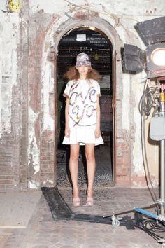 printed screen convo tee dropwaist. cynthia rowley sp13 rtw.