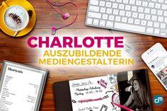 Wir freuen uns, Instagram-Fan Charlotte als Auszubildende im Bereich Mediengestaltung Digital und Print zu begrüssen!