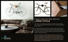 Elegant Wooden Bike Mounts By ONO CYCLE - #sreedhanyahomes