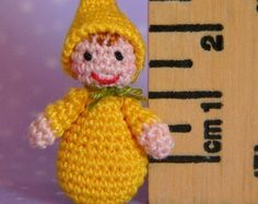 *** This is a PDF CROCHET PATTERN and NOT the finished item ***  This is an original crochet pattern to make a miniature Toadstool Boy  The pattern is written in english (US terms). The instructions are detailed and easy to follow if you know the basic stitches and techniques used to make amigurumi (work single crochet in a spiral, increase and decrease).  Pattern is available for instant download in Adobe PDF format.  To make this miniature Toadstool Boy you will need:  - Cotton thread #12…
