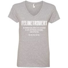 Felinetrovert - Ladies V Neck